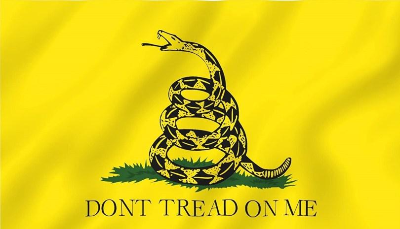Det berømte  Gadsden-flagget er et gammelt liberalistisk symbol  på at ingen individer skal plages eller diskrimineres av andre individer eller staten. At venstresiden har prøvd å gi det annen betydning, betyr ikke at det ikke er et glimrende symbol mot rasisme og for individuell frihet.