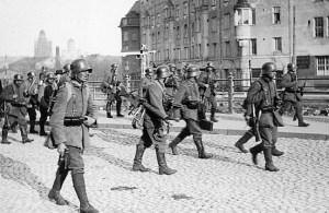 Tyske tropper i Helsingfors i 1918. Foto: Ukjent. Falt i det fri.