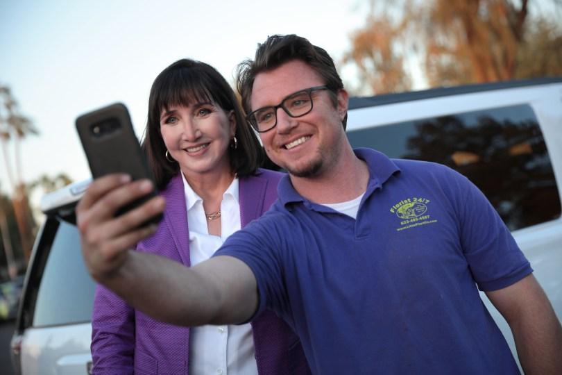 Jo Jorgensen på et kampanjestopp i Scottsdale, Arizona. Foto: Gage Skidmore CC..BY.SA.