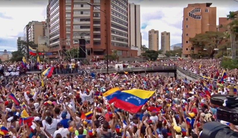 We are Millions-demonstrasjonen i Caracas, Venezuela i januar 2019. Foto: Voice of America.