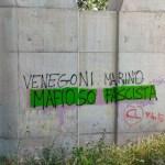 Scritta fascista contro il sindaco di Ossona Marino Venegoni 2021