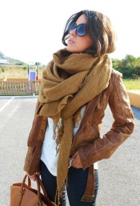 liberata dolce fashion blogger bloggerstyle style fall fashion 2015 leather blanket scarf
