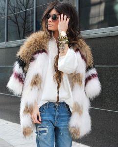 liberata dolce free people faux fur winter fashion january 2016 blog street style chic pattern print denim