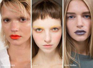 spring summer 2017 beauty makeup trends no mascara bold lip