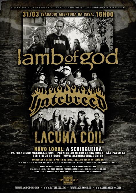 LAMB OF GOD/HATEBREED/LACUNA COIL