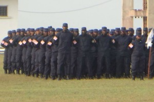 The police showed up to pay respect on Febury 11, 2016