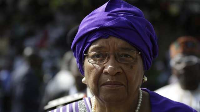 """She denied accusations her son Robert Sirleaf was in any way implicated in the collapse of Liberia's National Oil Company, and said her other son, Charles Sirleaf who was arrested in March, was """"illegally charged"""" over allegations he unlawfully printed local currency worth tens of millions of dollars."""