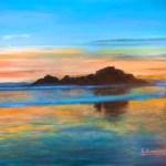 Silvia Comizzoli tramonto sul mare