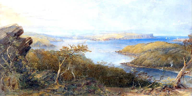 Conrad Martens - North Head from above Balmoral, Sydney Harbour