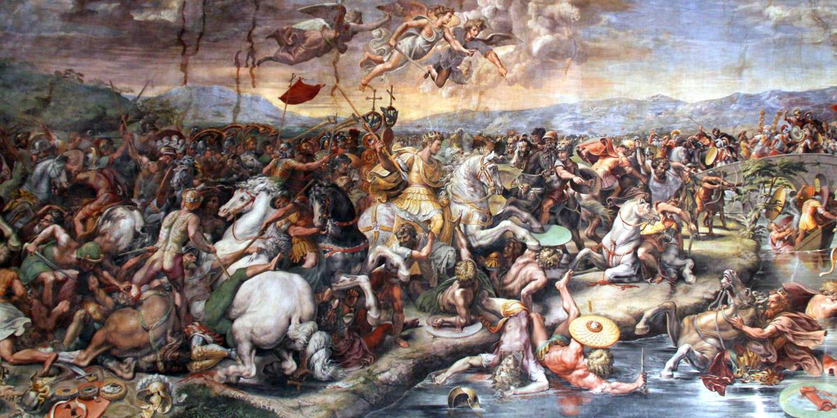 La battaglia di Ponte Milvio di Giulio Romano (1492-1499)