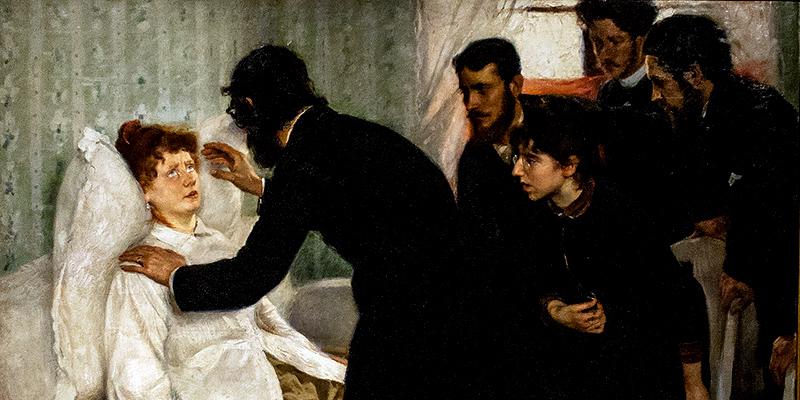 """Hypnotic séance"" di Richard Bergh, 1887."