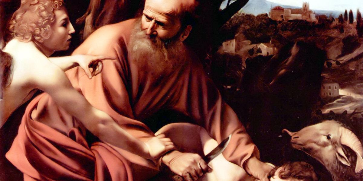 The Sacrifice of Isaac di Caravaggio