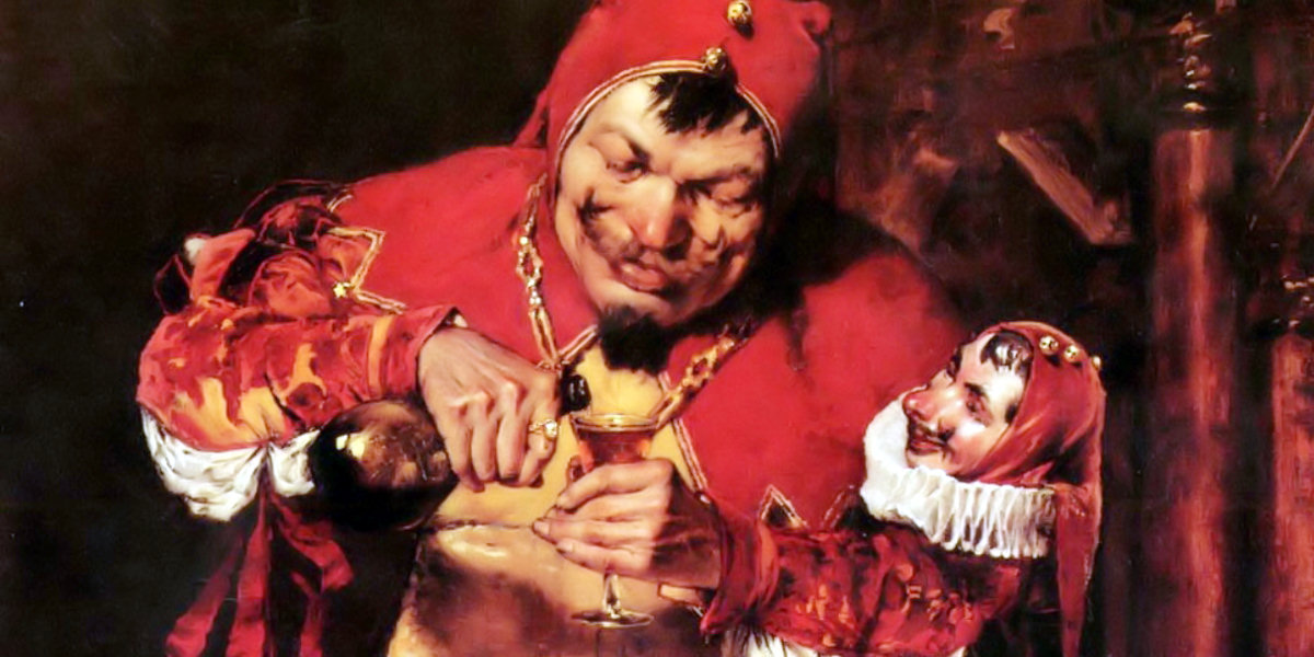 """""""Keying Up"""" - The Court Jester di William Merritt Chase"""
