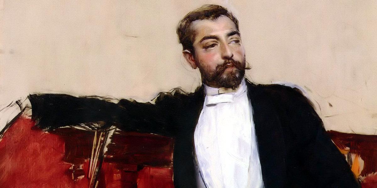 A Portrait of John Singer Sargent di Giovanni Boldini