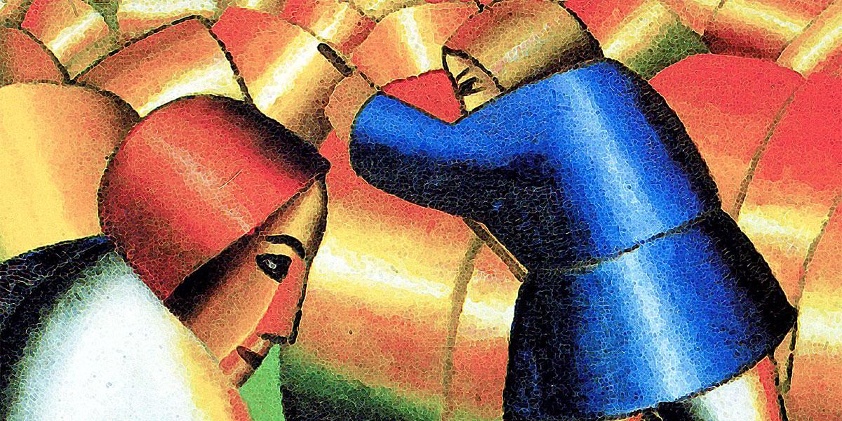 Taking in the Rye di Kazimir Malevich (1878–1935)