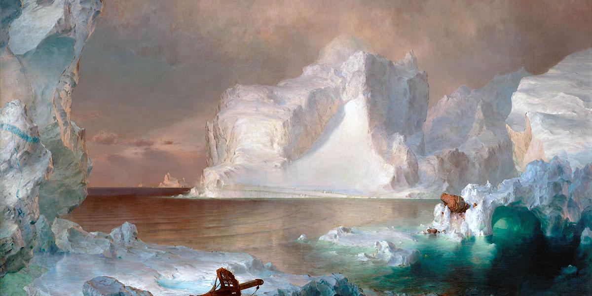 """""""The Icebergs"""" di Frederic Edwin Church"""
