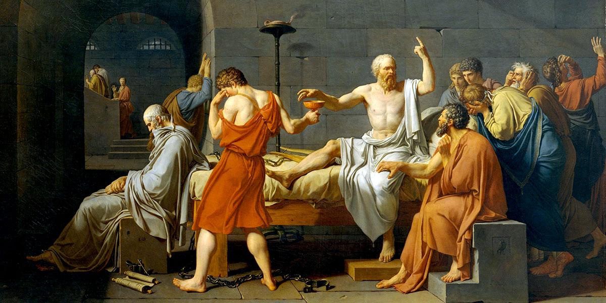 Morte di Socrate (La Mort de Socrate) di Jacques Louis David