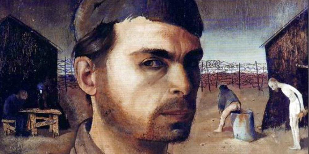 Autoritratto in campo di concentramento (di Felix Nussbaum, 1904-1944)