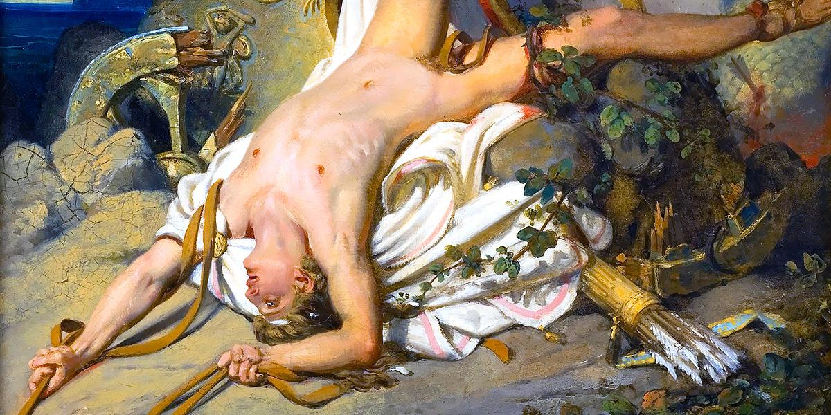 Joseph-Désiré Court, La mort d'Hippolyte, 1828.