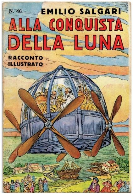 """Edizione del dopoguerra del racconto illustrato """"Alla conquista della Luna"""""""
