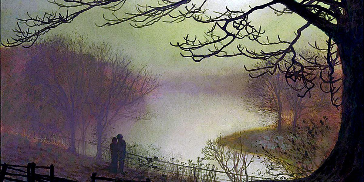 Roundhay Lake. John Atkinson Grimshaw