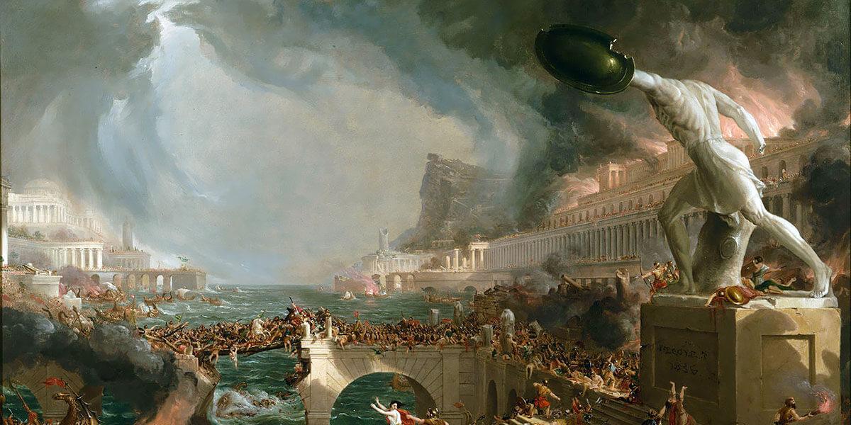 La distruzione dell'Impero romano - Thomas Cole - 1836 - New-York Historical Society