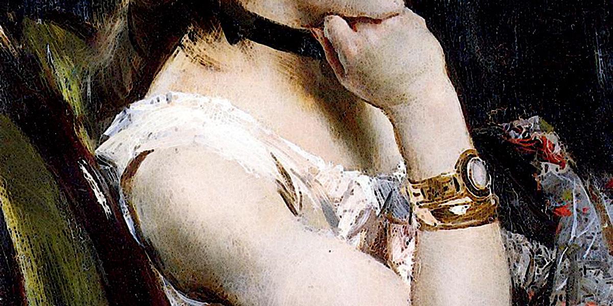 Woman Wearing a Bracelet. Alfred Stevens