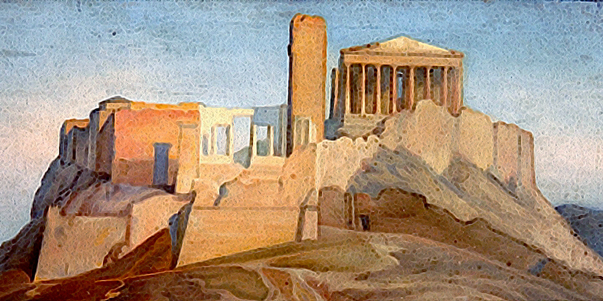 View of the Acropolis of Athens. Jean Auguste Dominique Ingres