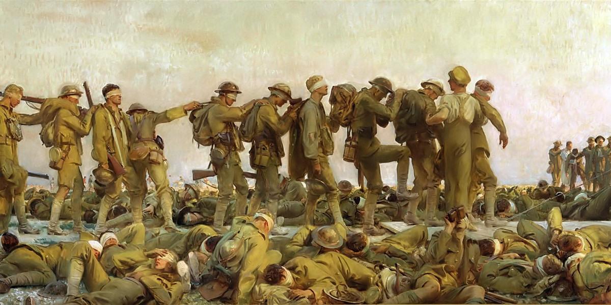 Gassed. John Singer Sargent