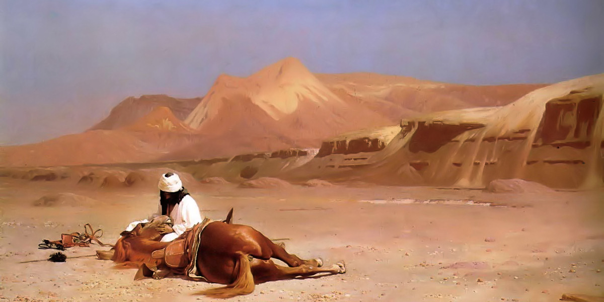 The Arab and his Steed. Jean-Leon Gerome
