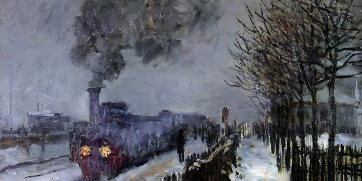 Train in the Snow or The Locomotive. Claude Monet