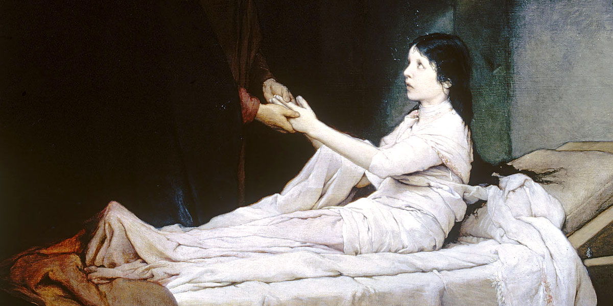 The Raising of the Daughter of Jairus. Gabriel von Max