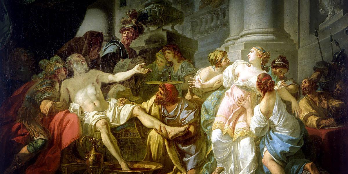 La morte di Seneca di Jacques-Louis David