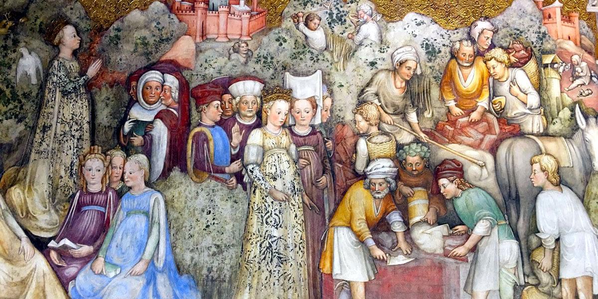Teodolinda presenzia la costruzione del Duomo di Monza. Zavattari