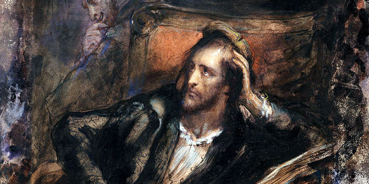 Faust in His Study by Ary Scheffer, c. 1831