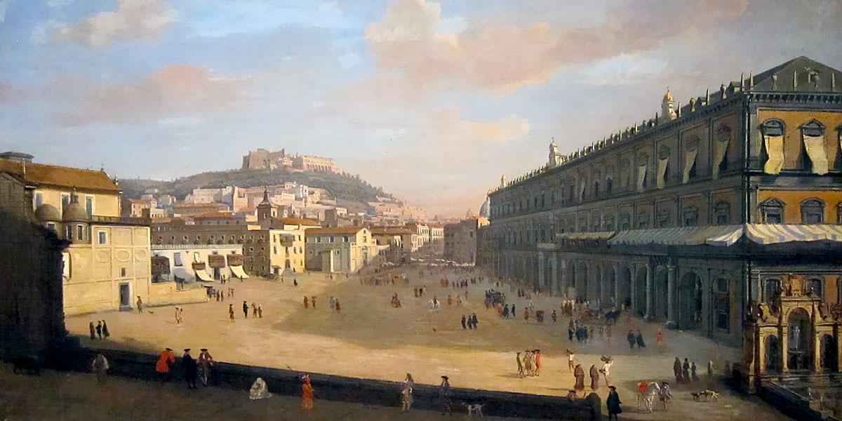 Gaspar van Wittel – Veduta del palazzo Reale di Napoli, 1706