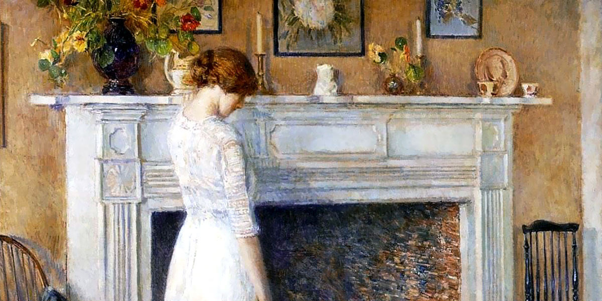 In the Old House. Childe Hassam