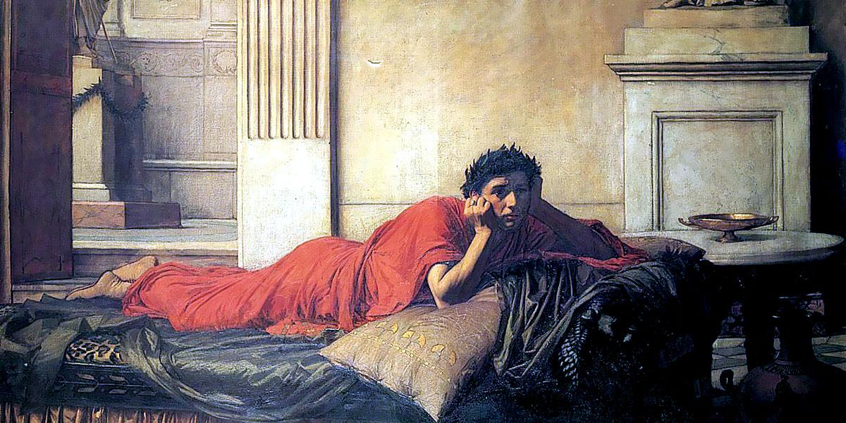 Il rimorso di Nerone dopo l'assassinio di sua madre, 1878, John William Waterhouse.