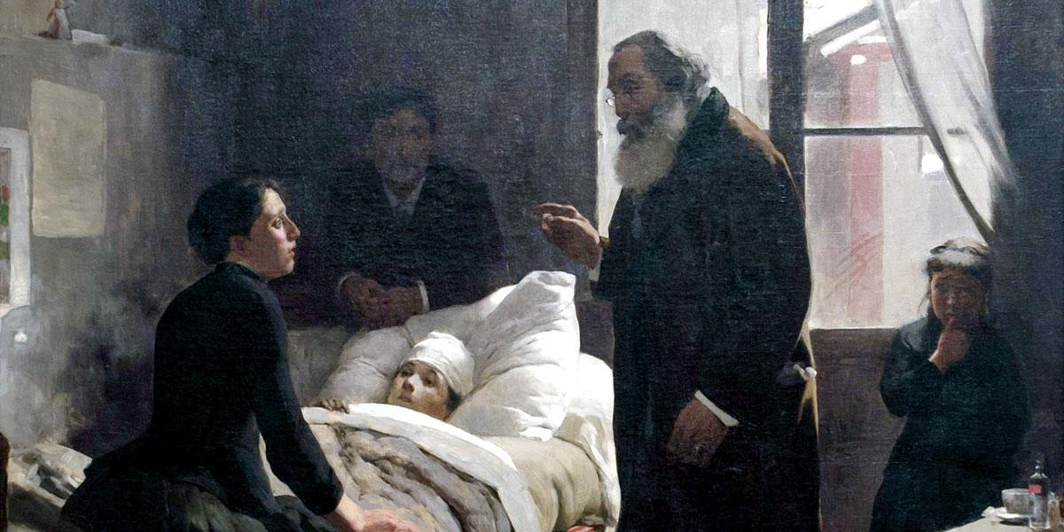 The Sick Child. Arturo Michelena