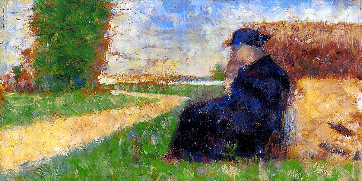 Large Figure in a Landscape. Georges Seurat