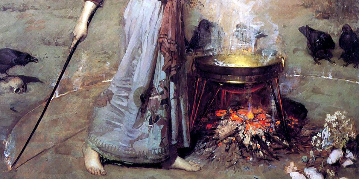 The Magic Circle. John William Waterhouse