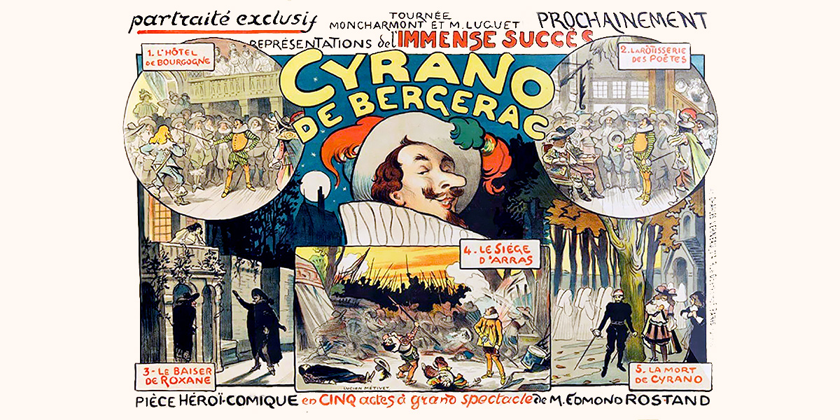 Cyrano de Bergerac (artista: Lucien Métivet) France, circa 1898