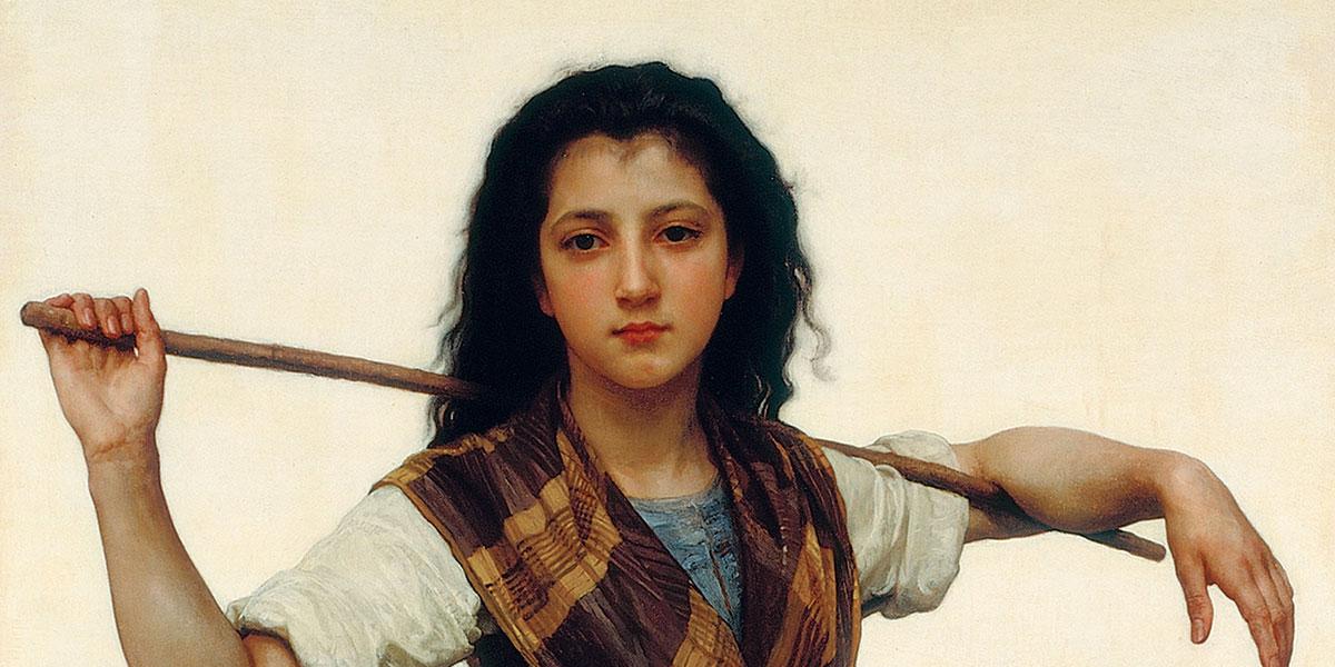 """Pastourelle"" di William-Adolphe Bouguereau"