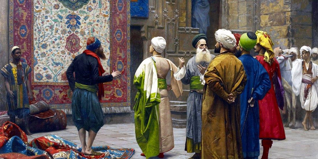 The Carpet Merchant (1887). Jean-Léon Gérôme