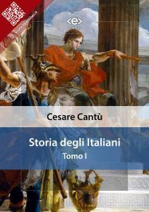 """""""Storia degli Italiani. Tomo I"""" di Cesare Cantù"""