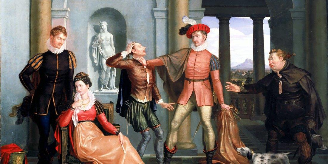"Scene from Shakespeare's ""The Taming of the Shrew"". Washington Allston"