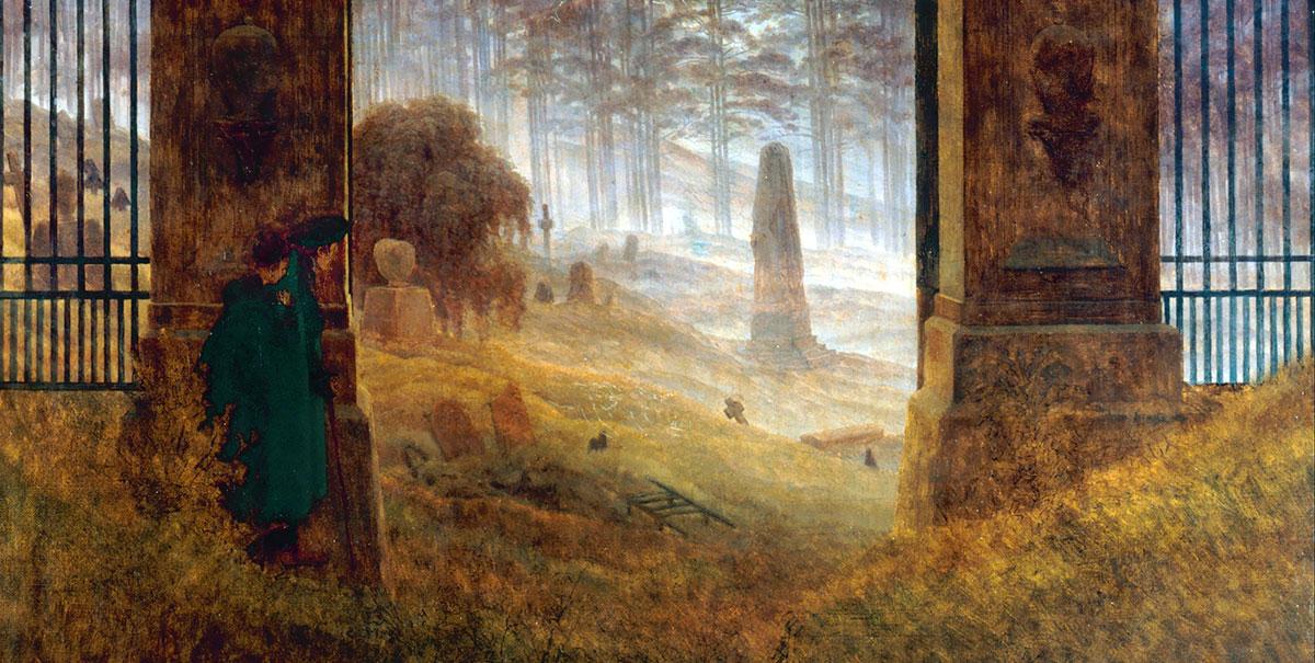 The Cemetery Entrance. Caspar David Friedrich