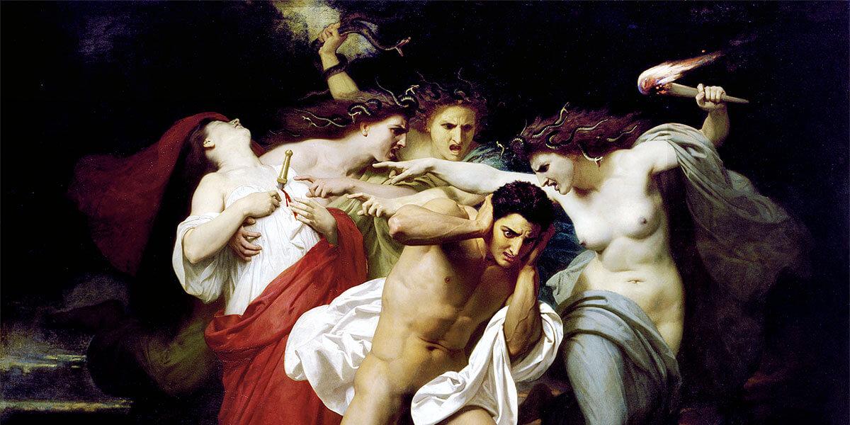 """""""Il rimorso di Oreste"""" di William-Adolphe Bouguereau"""