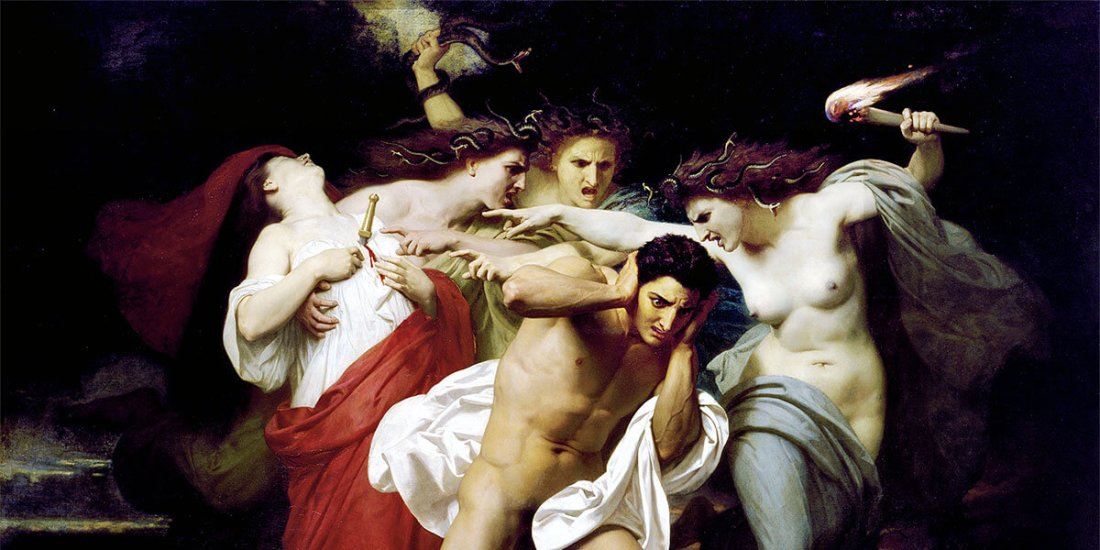 """Il rimorso di Oreste"" di William-Adolphe Bouguereau"