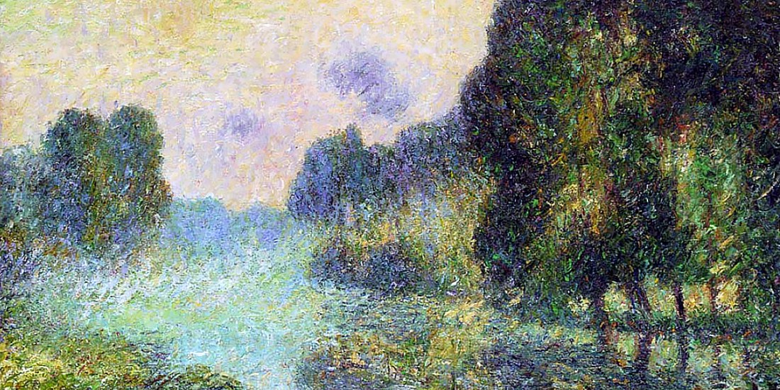 By the Eure River Fog Effect. Gustave Loiseau